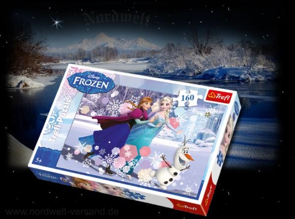 Frozen Puzzle Spiel mit Elsa, Anna und Olaf