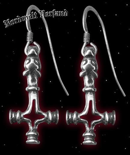 Ohranhänger Wolfskreuz Thorhammer 1 Paar, 925er Silber