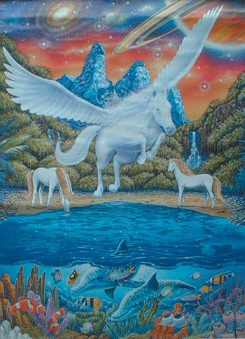 Pegasus Poster Kunstdruck