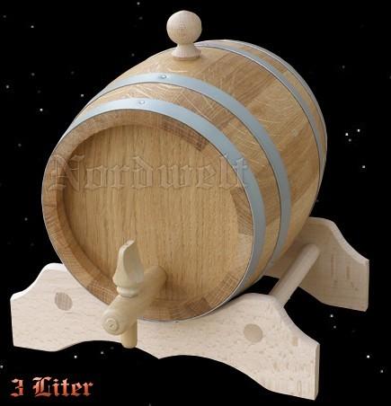 Fass 3 Liter aus Eichenholz