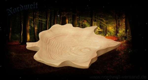 Ahornblatt-Schale aus Holz
