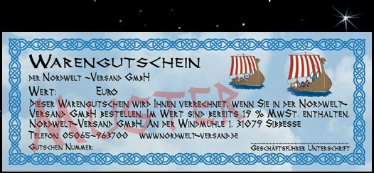 Nordwelt gift voucher for goods (from 20 euros, amount selectable)