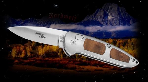 Speedlock Messer Thuja mit Etui Springmesser Arbeitsmesser Handwerker, Polizei Sicherheitsdienste