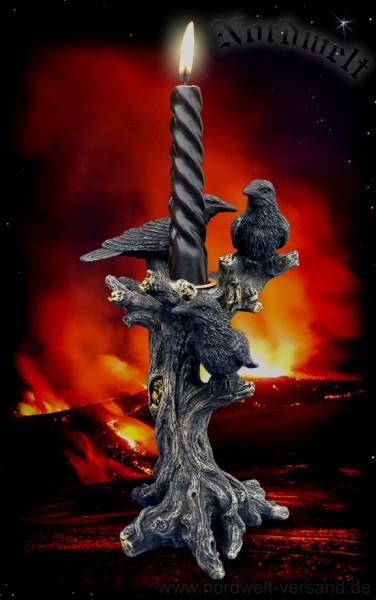 Kerzenhalter Odins Raben
