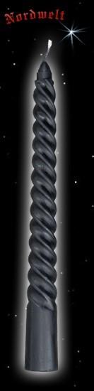 schwarze Spiralkerze