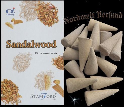 Sandelholz Räucherkerzchen Räucherkegel Räucherhüte Riechkerzchen Stamford Sandalwood