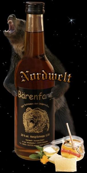 Bärenfang Honig Schnaps Ostpreußen, hergestellt aus Honig und Alkohol