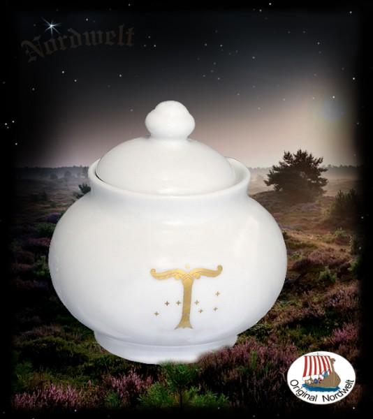 Porzellan - Zuckerbecher mit Irminsul Weltenbaum Irminseul