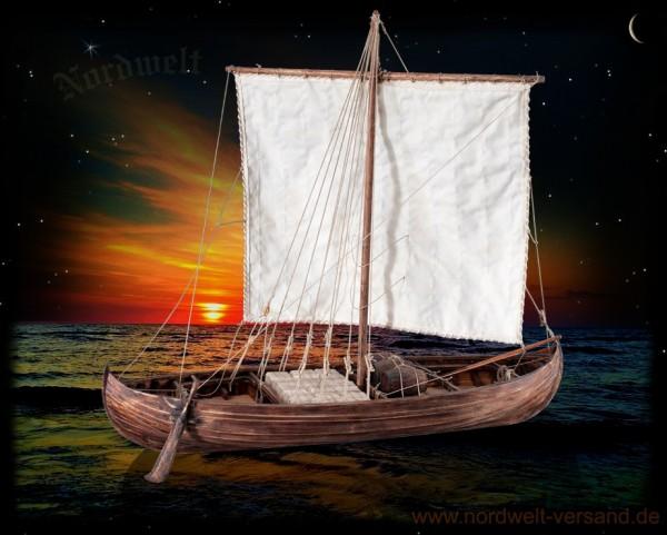 Wikingerschiff Modellbau Frachtschiff der Wikinger Lastschiff Segelschiff 1:35