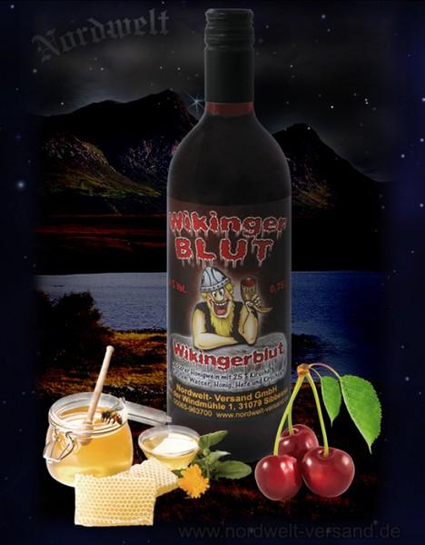 Wikingerblut Honigwein mit Kirschsaft Met Göttertrank der Germanen Wikinger Blut