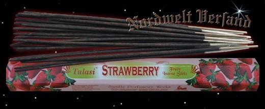 Erdbeere Räucherstäbchen räuchern Tulasi Strawberry
