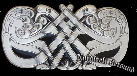 """Gürtelschnalle """"Keltische Pfauen"""""""