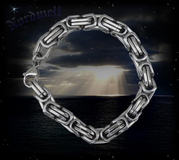 Königskette Armband Edelstahl Königsarmband byzantinische Kette