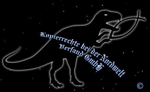 """PVC Aufkleber Aufkleber """"Dino verspeißt Fisch"""" schwarz"""