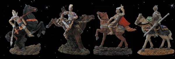 4 Ritter zu Pferd