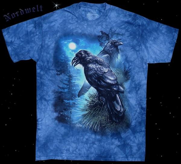 T-Hemd Odins Raben in Midgards Wald Pagan T-Shirts mit Hugin und Munin