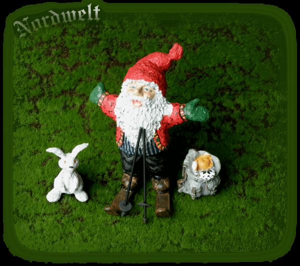 Figur Zwerg Skandinavien Statue nordischer Brauchtum Zwerge Weihnachten