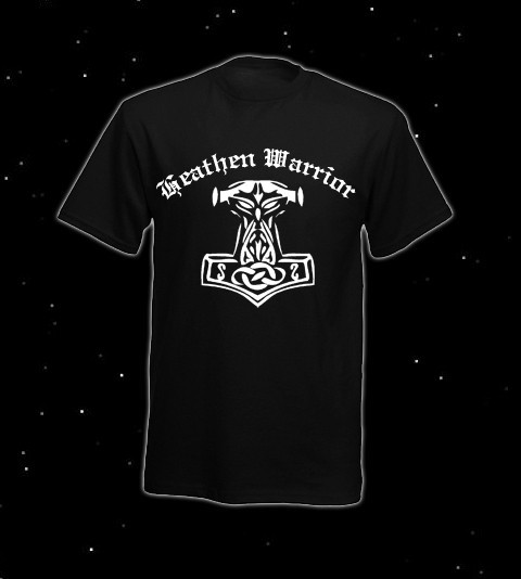 "T-Hemd Thorhammer ""Heathen Warrior"" (S-6XL), schwarz"