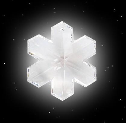 Hagal Rune aus Kristall Glas Hagalrune Julbaumschmuck Julfest heidnische Feiertage
