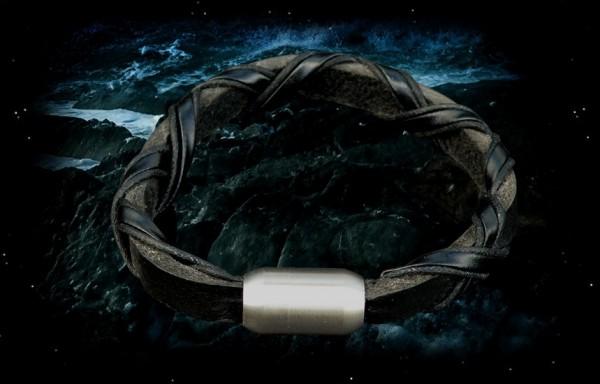 Armband geflochten mit Magnet Edelstahlverschluss