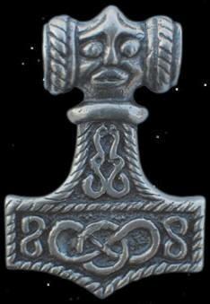 Thorhammer Thors-Hammer mit Zauberknoten 925er Sterling Silber Mjölnir