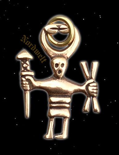 """Anhänger """"Odin"""", bronze"""