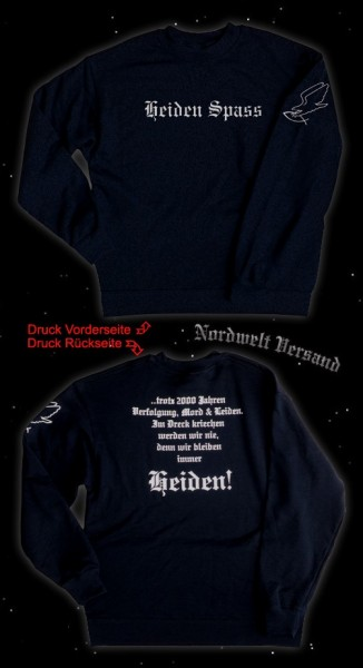 "Sweatshirt ""Heidenspaß"", black"