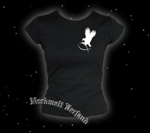 """Frauen T-Hemd """"Adler greift Fisch"""" Schwarz"""