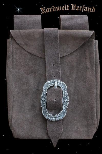 historische Mittelalter Gürteltasche Ledertasche Wildleder Tasche Reenactment LARP Museums-Repliken