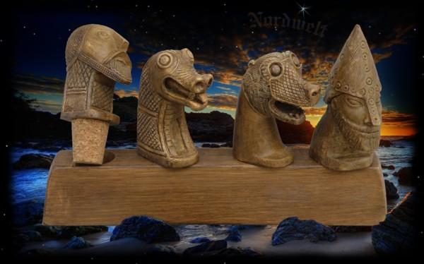 Flaschenkorken mit Wikingerköpfen Drachenkopf Wikingermotiven