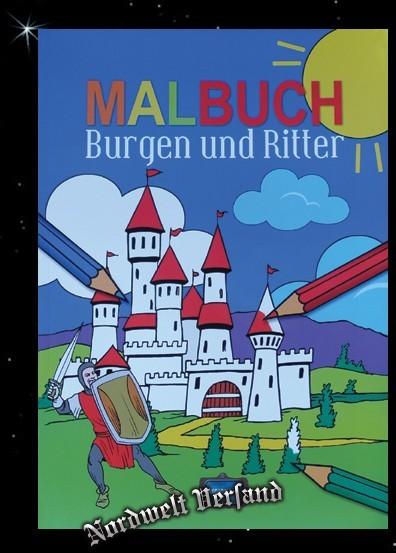 """Kinder Malbuch """"Burgen und Ritter"""" Mittelalter Kinderbuch"""