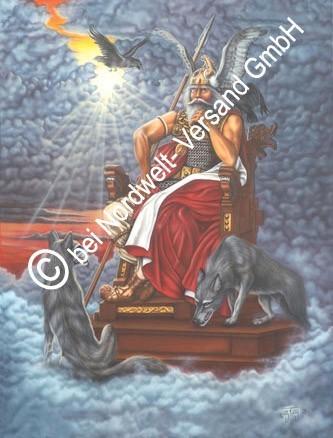 Wotan Odin Göttervater Poster Kunstdruck Wodan