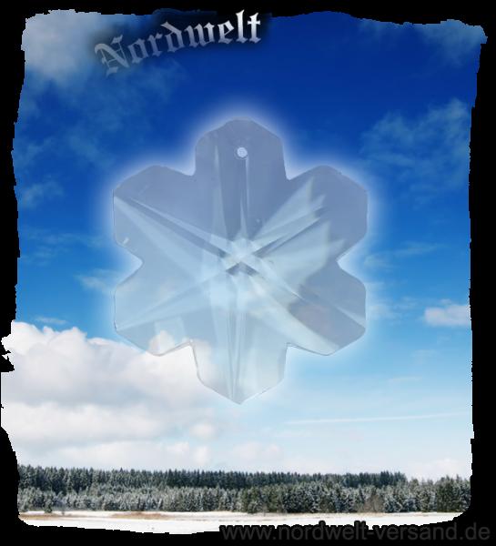 Kristall Hagal-Rune, Bleikristall klar (Durchmesser 40 mm) Hagalrune