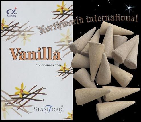 Räucherkerzchen / Räucherkegel Vanille Räucherhütchen Vanilla Stamford Räucher- Hüte