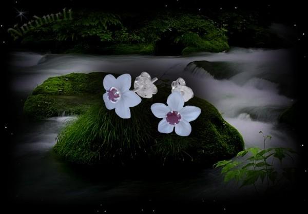 Ohrstecker Rubin Perlmutt Kirschblüte Mandelblüte