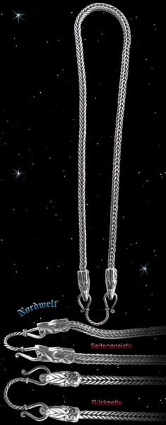 "Wikinger Königskette ""Jörmungandr"" 50 cm - 925er Silber"