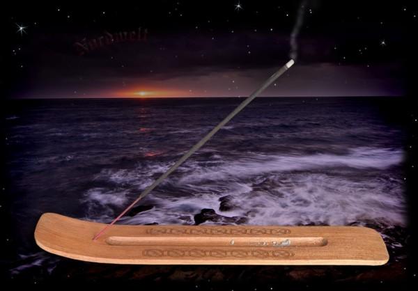 Räucherstäbchenhalter keltisches Motiv aus Holz Zubehör Räucherware