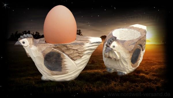 """Eierbecher """"Henne"""" aus Holz"""