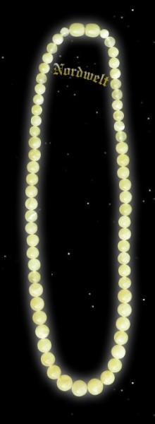 Bernsteinkette, olivenförmig geschliffener Naturbernstein, ca. 45 cm