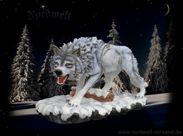 Weißer Wolf 40 cm