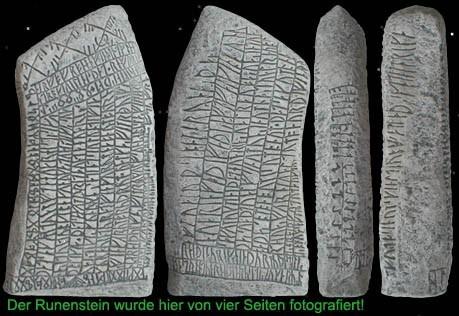 Runenstein von Röck Südschweden mit Hunderten von Runen