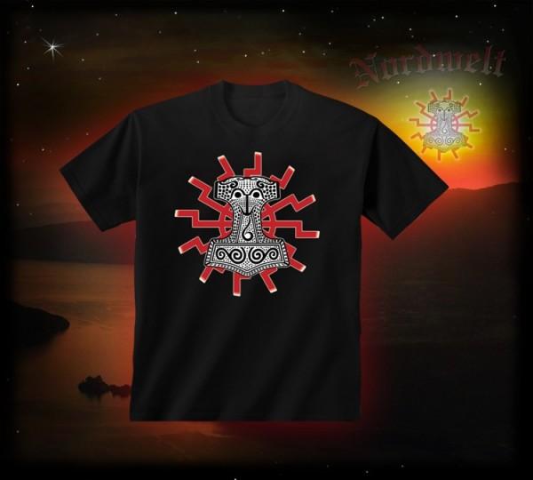 Thorhammer T-Hemd Sonne Thors-Hammer T-Shirt Mjönir Pagan
