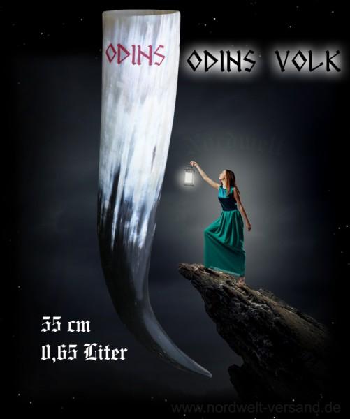 """Trinkhorn / Methorn mit Gravur """"Odins Volk"""", EINZELANFERTIGUNG"""