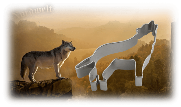 Teigform Wolf Symbolgebäck germansiche Mythologie