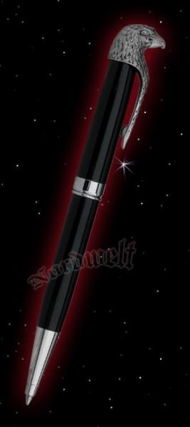 Kugelschreiber (schwarz) mit Adlerkopf
