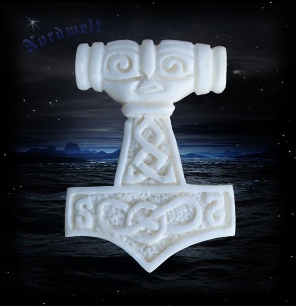 Thorhammer aus Knochen Rinderknochen Thors Hammer Mjölnir