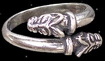 Wolfskopf Ring - 925er Silber