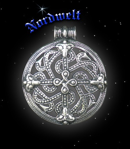 Anhänger Borre-Stil Wikinger, 925 Silber
