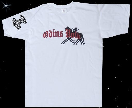 T-Hemd Odins Volk Wotan auf Sleipnir mit Thorhammer Mjölnr Thors- Hammer T-Shirt