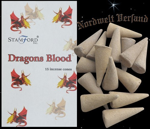 Drachenblut Räucherkerzchen Räucherkegel Dragons Blood Räucherhütchen Stamford